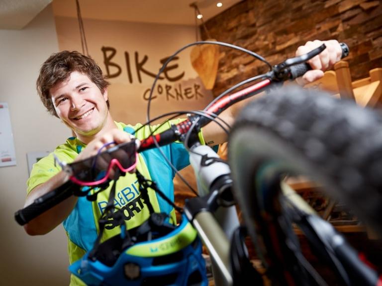 Biker-Corner im Hotel Hasenauer