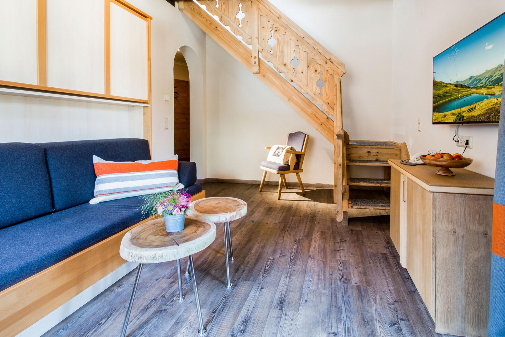 Wohnzimmer mit Stiege