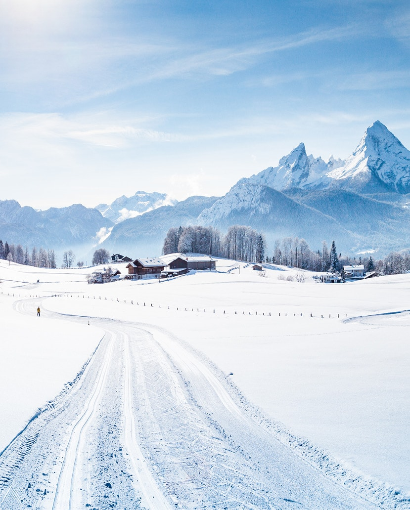 Beschneite Bergwelt