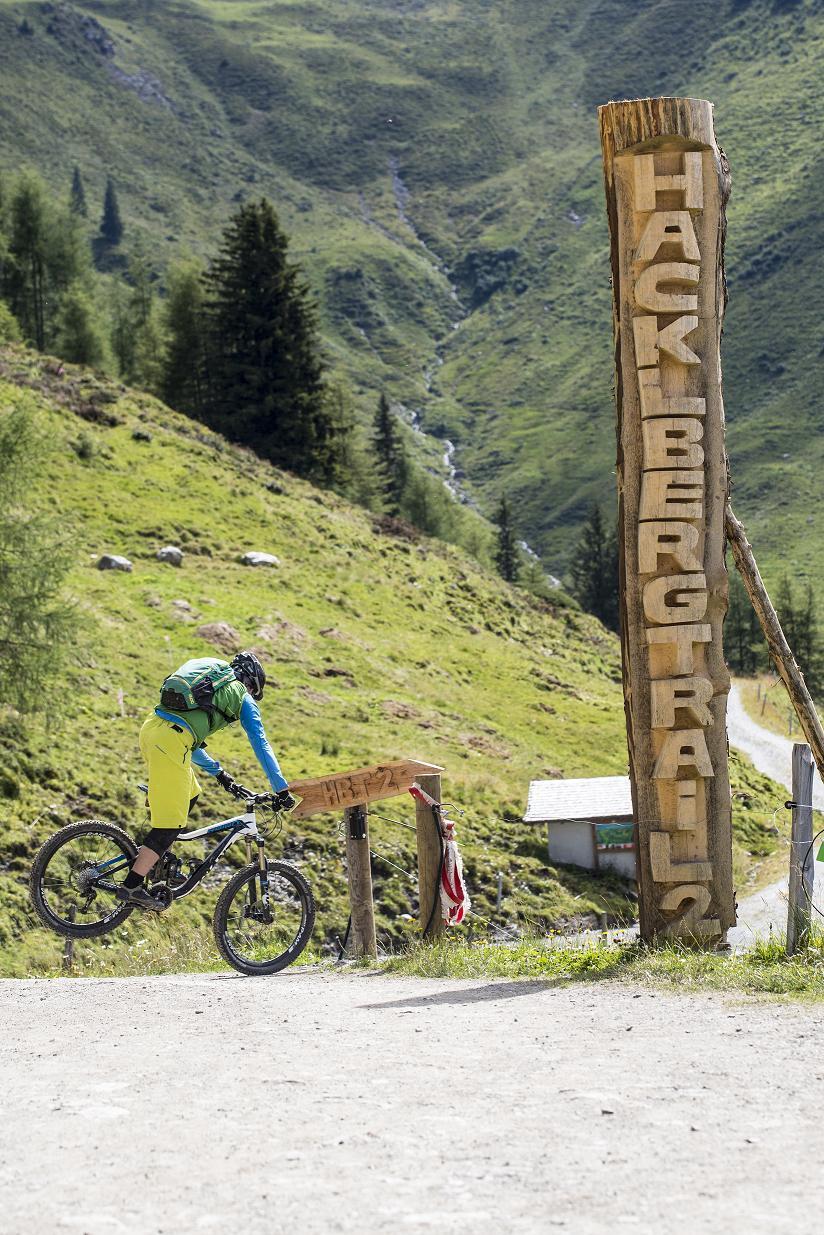 Radfahrer auf Buckettrail