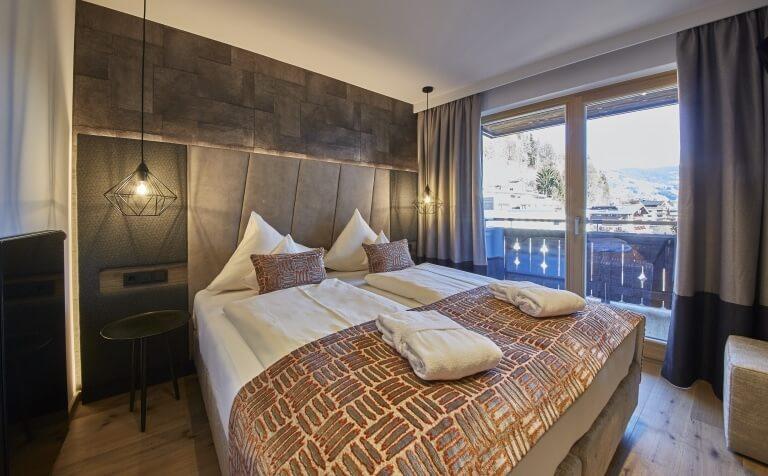 Studio Hochtor Schlafbereich mit Balkon